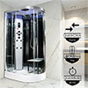 Insignia Platinum 1200 x 800mm Steam Shower Chrome Frame profile small image view 1