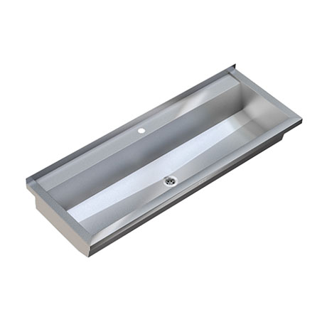 Franke Planox Wall Mounted Stainless Steel Wash Trough Sink