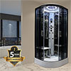 Insignia Platinum 900 x 900mm Steam Shower Cabin - PL9-QBF-TG-S profile small image view 1
