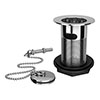 Traditional Chrome Basin Waste with Plug + Ball Chain profile small image view 1
