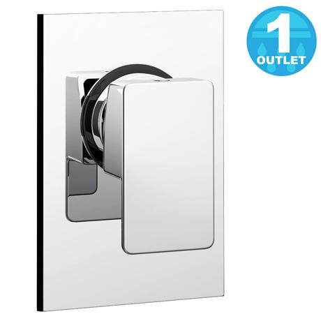 Plaza Modern Concealed Manual Shower Valve - Chrome