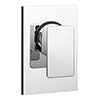 Plaza Modern Concealed Manual Shower Valve - Chrome Medium Image
