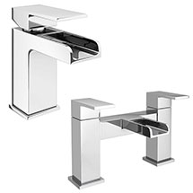 Plaza Waterfall Tap Package (Bath + Basin Tap) Medium Image