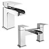 Plaza Waterfall Tap Package (Bath + Basin Tap) Small Image