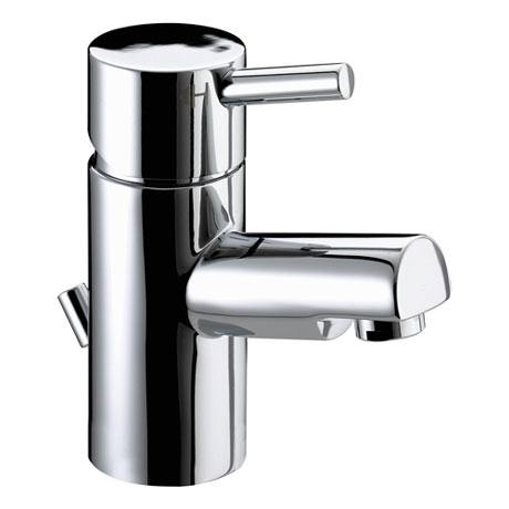 Bristan - Prism Contemporary Basin Mixer with Pop-up Waste - Chrome - PM-BAS-C