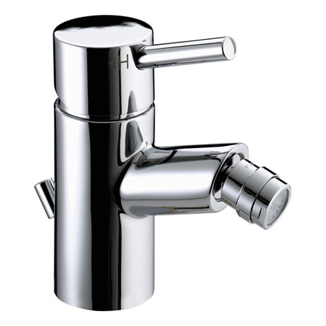 Bristan - Prism Contemporary Bidet Mixer w/ Pop-up Waste - Chrome - PM-BID-C