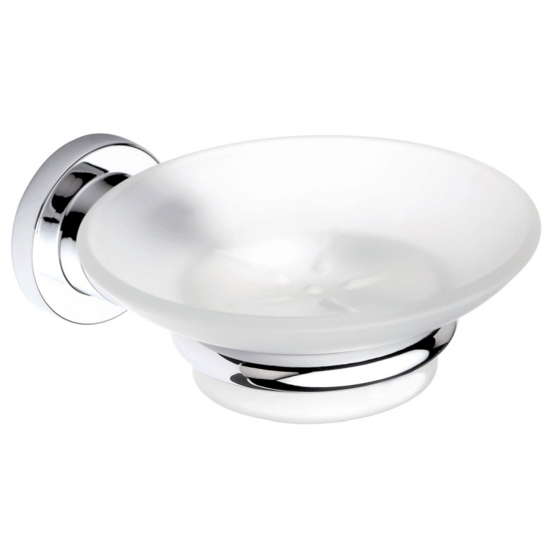 Bristan - Prism Frosted Glass Soap Dish - PM-DISH-C profile large image view 1