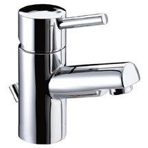 Bristan Prism Contemporary Basin Mixer Tap inc Eco-Click & Pop-up Waste - Chrome - PM-EBAS-C Medium