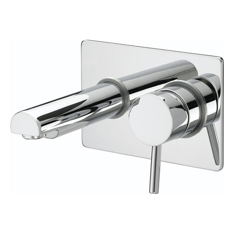 Bristan - Prism Contemporary Single Lever Wall Mounted Bath Filler - Chrome - PM-SLWMBF-C