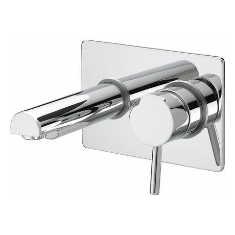 Bristan - Prism Contemporary Single Lever Wall Mounted Bath Filler - Chrome - PM-SLWMBF-C