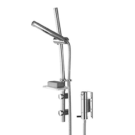 Bristan - Prism Thermostatic Vertical Dual Control Shower with Kit - PM-VSHXAR-C