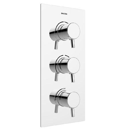 Bristan - Prism Thermostatic Recessed Dual Control Shower Valve with Integral Diverter - PM2-SHC3DIV
