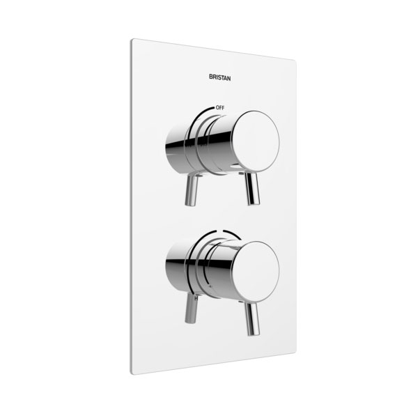 Bristan - Prism Thermostatic Recessed Dual Control Shower Valve - PM2-SHCVO-C Large Image