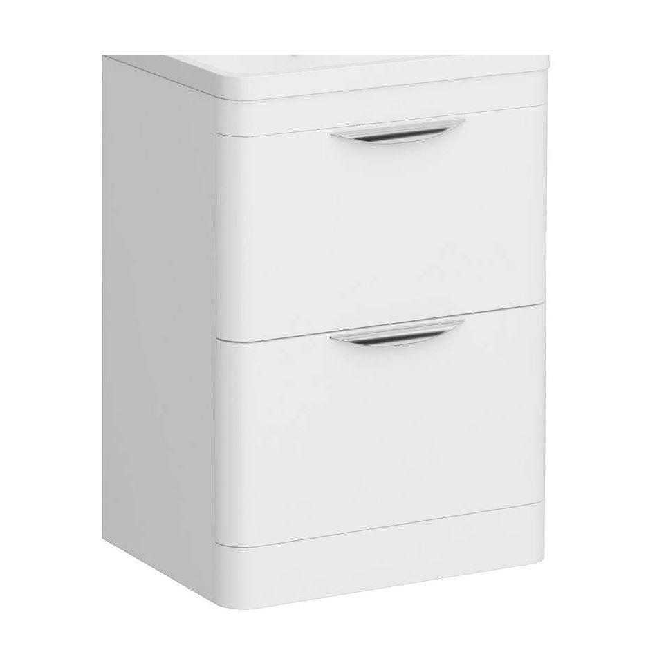 Monza 600mm White Floor Standing Vanity Cabinet (excluding Basin)