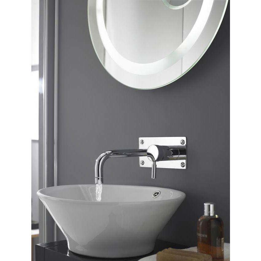 Hudson Reed Tec Single Lever Wall Mounted Bath/Basin Filler - Chrome - PN328 profile large image view 2