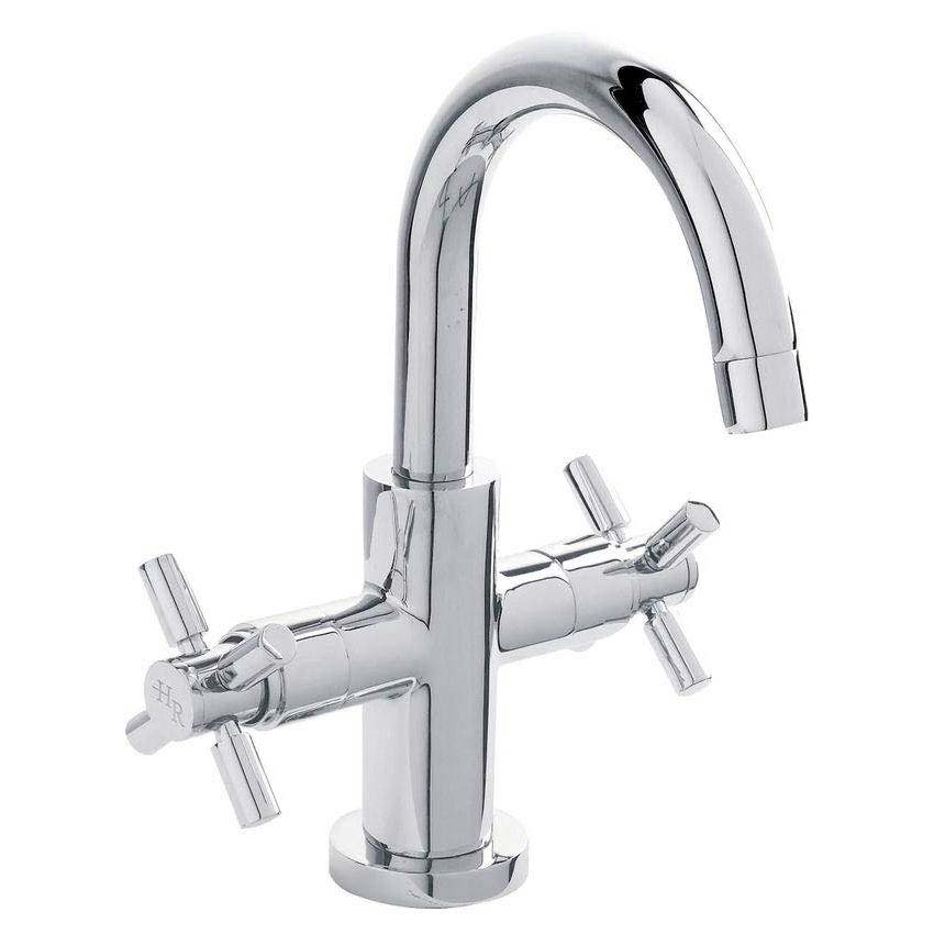 Hudson Reed - Tec Crosshead & Lever Cruciform Cloakroom Basin Mixer with waste - PN355 profile large image view 1