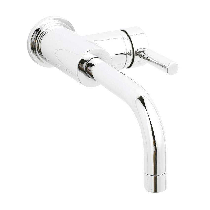 Hudson Reed - Tec Single Lever Wall Mounted Side Action Basin Mixer - PN381 Large Image