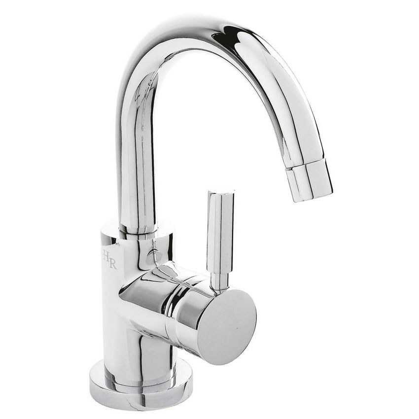 Hudson Reed Tec Single Lever Side Action Cloakroom Basin Mixer Tap inc Push Button Waste Large Image