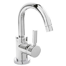 Hudson Reed Tec Single Lever Side Action Cloakroom Basin Mixer Tap inc Push Button Waste Medium Imag
