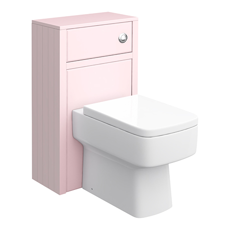 Chatsworth 500mm Traditional Pink Toilet Unit Only