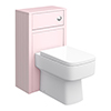 Chatsworth 500mm Traditional Pink Toilet Unit Only profile small image view 1