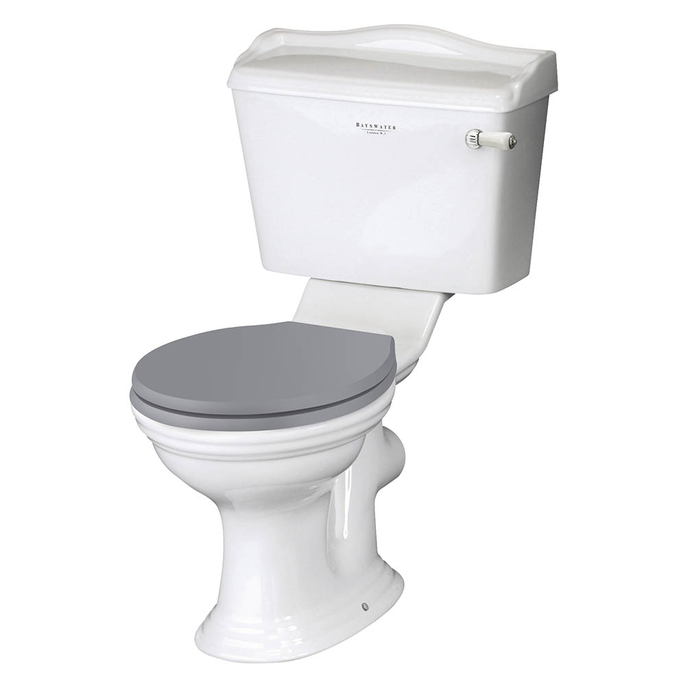 Bayswater Porchester Traditional Close Coupled Toilet with Ceramic Lever Flush