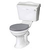 Bayswater Porchester Traditional Close Coupled Toilet with Ceramic Lever Flush profile small image view 1