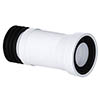 Viva Long Slinky-Fit Flexible WC Pan Connector (300 - 700mm) profile small image view 1