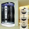 Insignia Premium 1100 x 700mm Shower Cabin Black Frame profile small image view 1