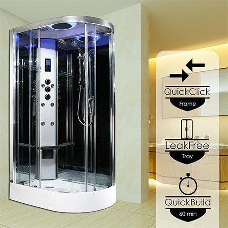 Insignia Premium 1100 x 700mm Shower Cabin Chrome Frame