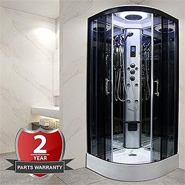 Insignia Premium 800 x 800mm Hydro Massage Shower Cabin - PR8-QBF-TG