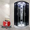 Insignia Premium 800 x 800mm Hydro Massage Shower Cabin - PR8-QBF-TG profile small image view 1