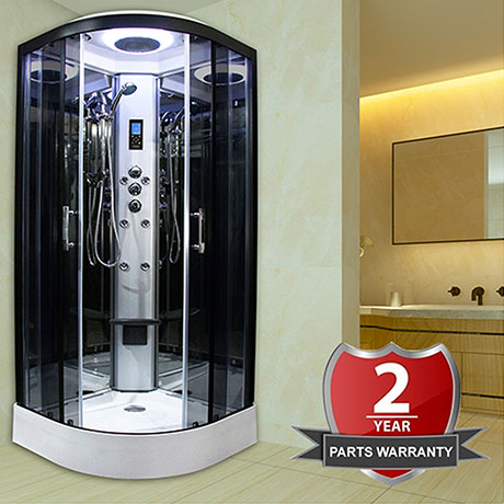 Insignia Premium 900 x 900mm Hydro Massage Shower Cabin - PR9-QBF-TG