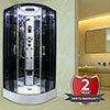 Insignia Premium 900 x 900mm Hydro Massage Shower Cabin - PR9-QBF-TG profile small image view 1