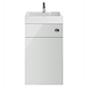Nuie Athena 500 Grey Mist 2-In-1 Basin, Concealed Cistern & WC Unit - PRC745CB profile small image view 1