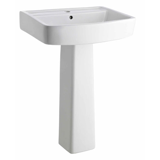 Bliss 4 Piece Bathroom Suite - CC Toilet & 1TH Basin with Pedestal - 2 x Basin Size and Seat Options profile large image view 3
