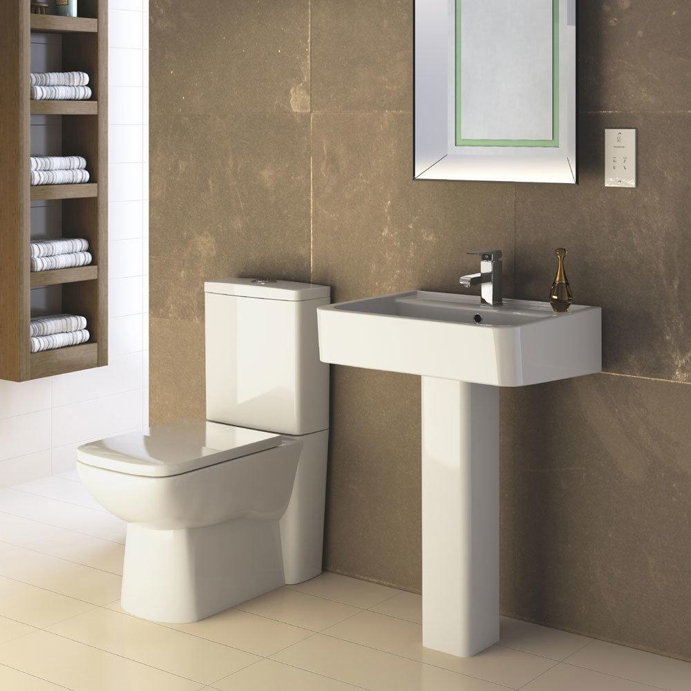 Premier - Ambrose 4 Piece Bathroom Suite - CC Toilet & 1TH Basin w Pedestal - 2 x Basin Size Options Large Image