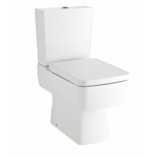 Bliss 4 Piece Bathroom Suite - CC Toilet & 1TH Basin with Pedestal - 2 x Basin Size and Seat Options profile large image view 2