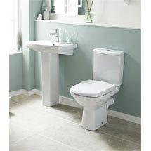 Premier - Hamilton 4 Piece Bathroom Suite - Toilet & 1TH Basin w Pedestal - 3 x Basin Size Options Medium Image