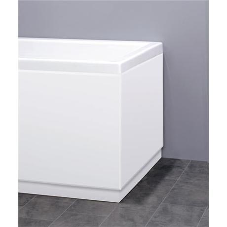 Premier - 700mm MDF High Gloss End Bath Panel - White - VTY018