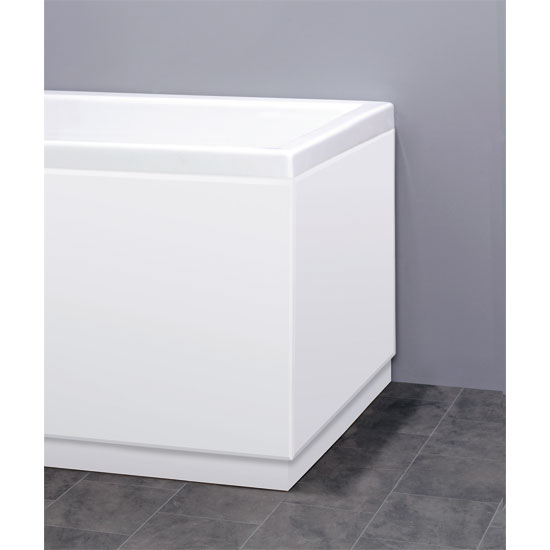 Premier - 700mm MDF High Gloss End Bath Panel - White - VTY018 Large Image
