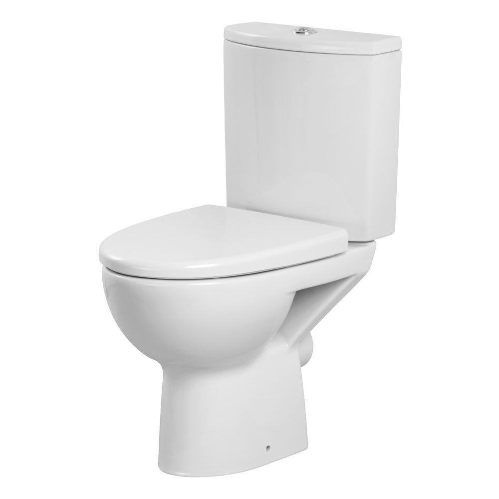 Premier - Pandora 4 Piece Bathroom Suite - CC Toilet & Basin with Pedestal - 1 or 2 Tap Hole Options profile large image view 2