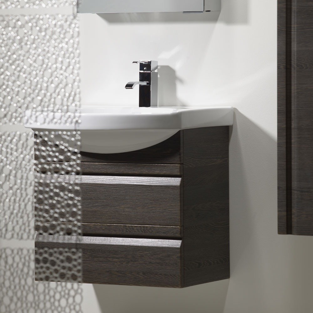 Roper Rhodes Profile 600mm Wall Mounted Unit - Pale Driftwood profile large image view 3