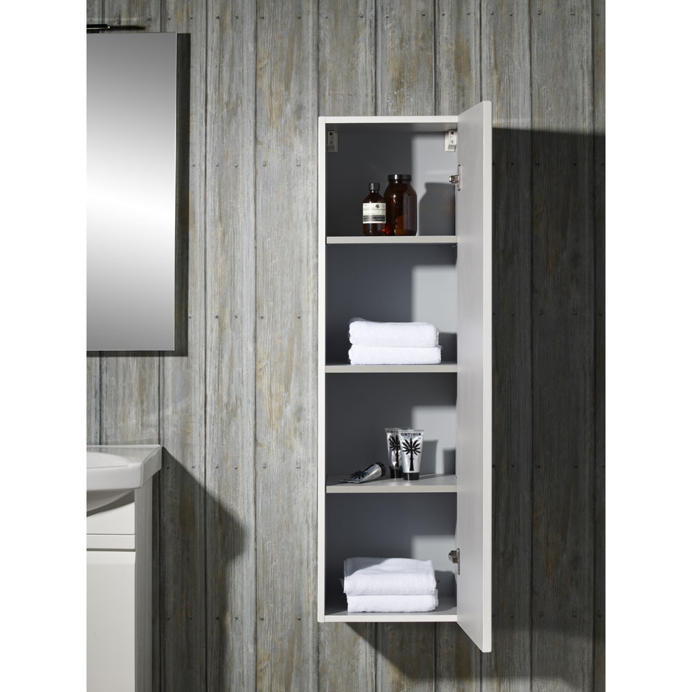 Roper Rhodes Profile 350mm Tall Storage Cupboard - Gloss White profile large image view 2