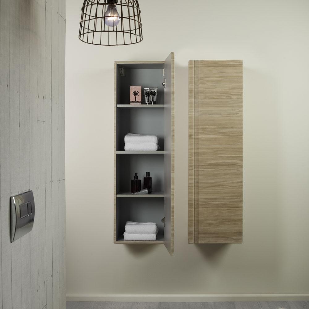 Roper Rhodes Profile 350mm Tall Storage Cupboard - Gloss White profile large image view 4