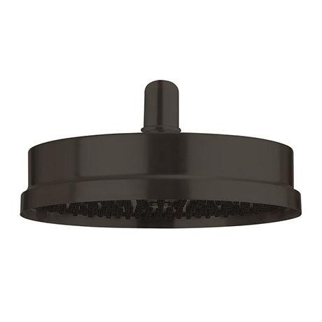 "Crosswater MPRO Industrial 8"" Easy Clean Shower Head - Carbon Black - PRI08M_EC"