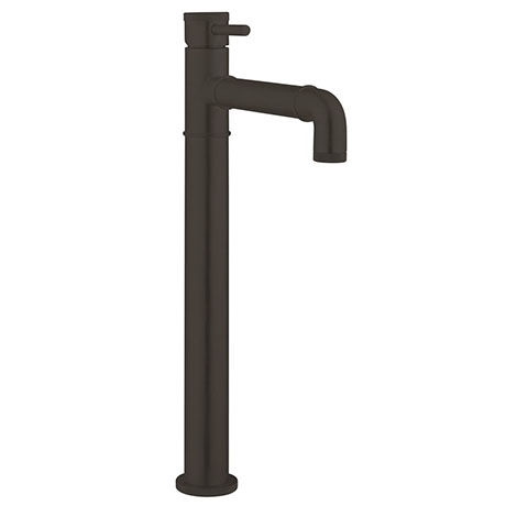 Crosswater MPRO Industrial Tall Monobloc Basin Mixer - Carbon Black - PRI112DNM