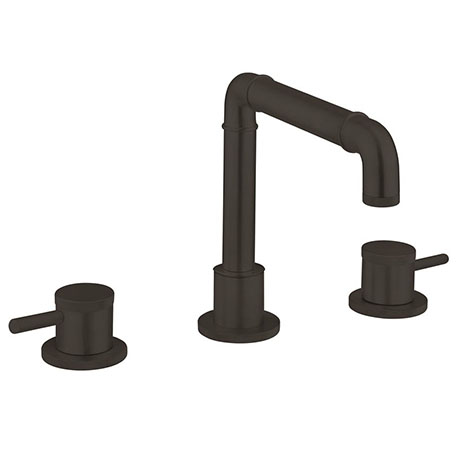 Crosswater MPRO Industrial 3 Hole Set Basin Mixer - Carbon Black - PRI135DNM