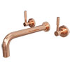 Primo Rose Gold Modern Wall Mounted Bath Filler Tap profile small image view 1