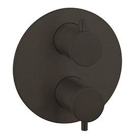 Crosswater MPRO Industrial Carbon Black Crossbox 3 Outlet Trim Set